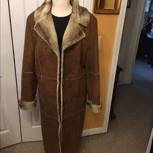 Women Lane Bryant 14-16 faux fur coat